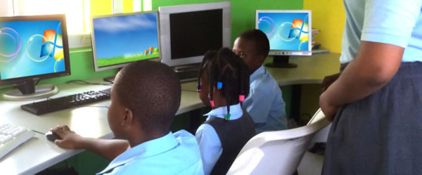Computer training in our primary section